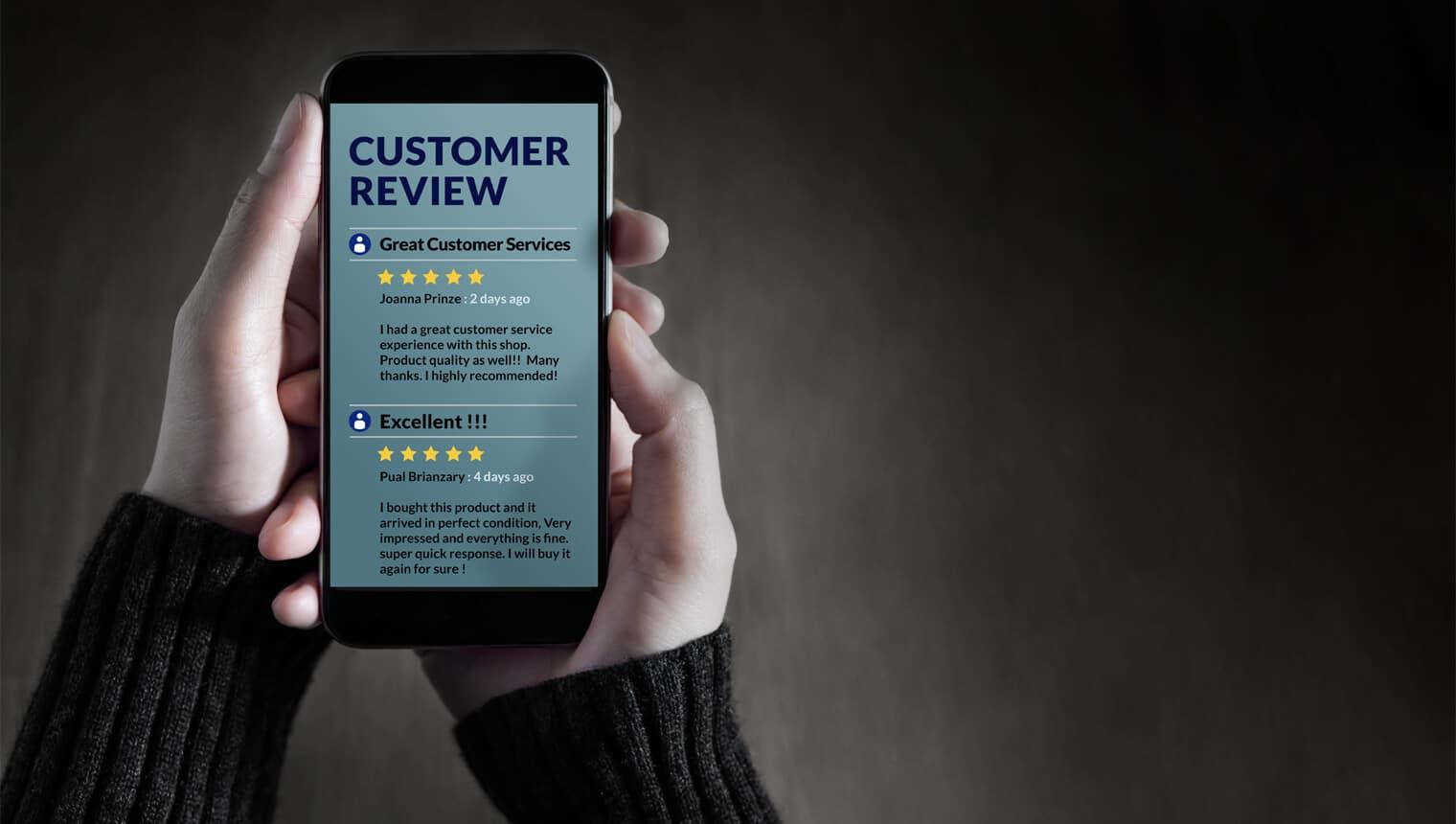 Online Reputation Management - ORM, Customer Reviews